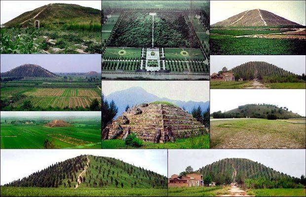 Le piramidi cinesi e le leggende sugli dei discesi dal cielo.